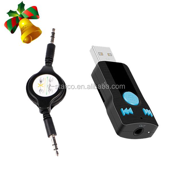 mains libres de voiture bluetooth musique r cepteur audio adaptateur st r o pour voiture aux in. Black Bedroom Furniture Sets. Home Design Ideas