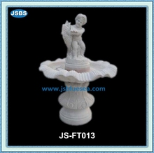 stone fishing boy garden water fountain