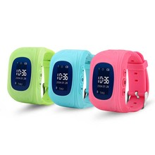 Functional bluetooth SOS anti lost phone wrist watch kid gps watch tracker