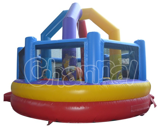 Inflatable sport games wrecking ball inflatable gladiator joust inflatable interactive games
