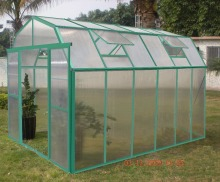 Galvanized steel pipe Frame Material and Garden Greenhouses Type commercial hydroponics greenhouse