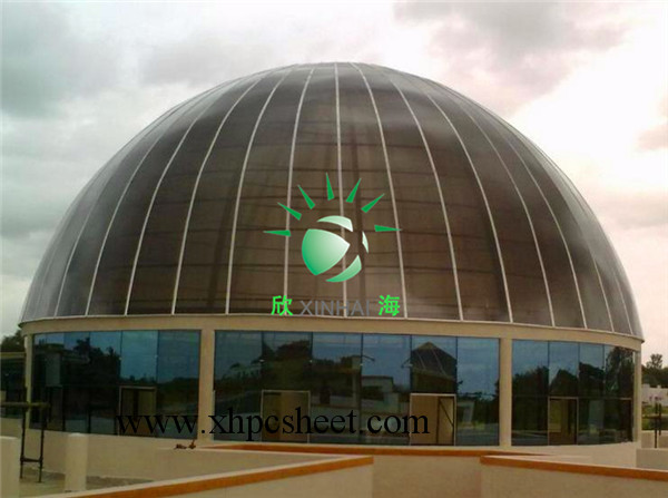 High Quality 10 Years Warranty ISO polycarbonate dome architectual glass dome manufacturer industrial agricultural greenhouses