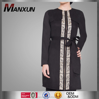 Muslim Ladies Traditional Tops and Blouses with Waist Tie Front Open with Zipper Design for Bulk Wholesale