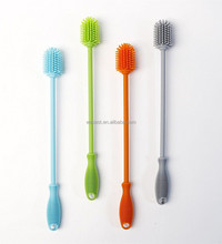 Anti-bacteria silicone Bottle cleaning Brush Cup Cleaning Brush baby bottle brush