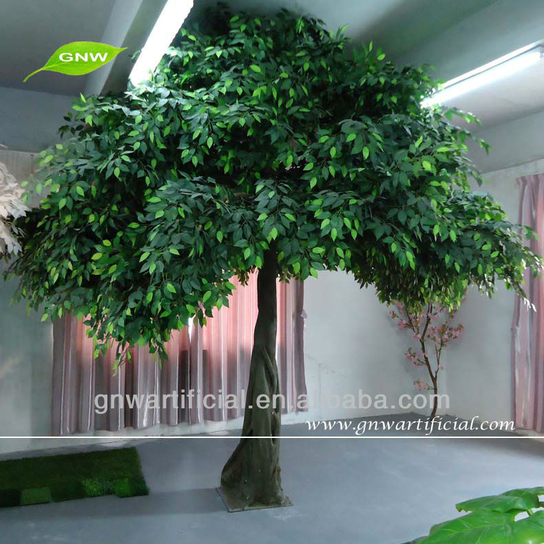GNW 12ft tree artificial live ficus bonsai,artificial banyan tree for home and hotel decoration