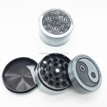 Hot Silver Zinc Alloy Engraved Grinders Metal Tobacco Herb Manual Grinder Smoking Weed 3Part Crusher Hand Muller Hookah
