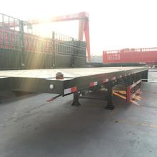 Hot Sale High Quality Leaf Spring CE Container Flatbed Semi-trailer 60 ton for sale