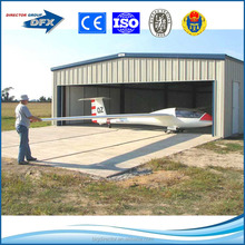 dfx exporting economic and stronger light steel structure aircraft hangar steel hangar with best price