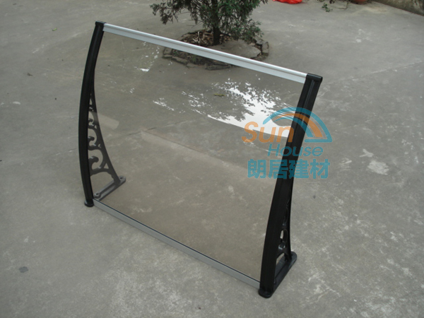 clear polycarbonate pc awning rain protection for windows door canopy