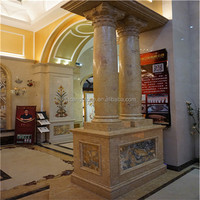 Hot Selling natural stone decorative wooden pillars
