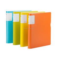 Polypropylene Ring Binder Translucent,A4 Ring Binders,Custom Binder For Office Shuter UT Rainbow U6114