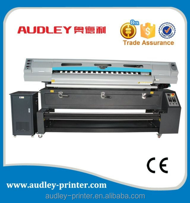 Audley QS8000-D3 sublimation digital flag printer price with CE 1.8m