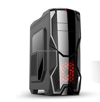 luxury custom gamer computer case/gaming atx computer case/gaming atx pc case with LED blue fan