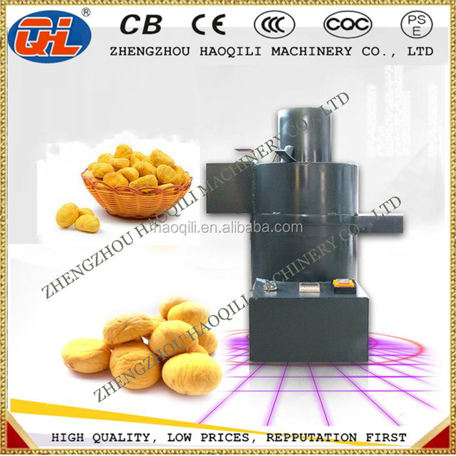 Chestnut shell peeler machine