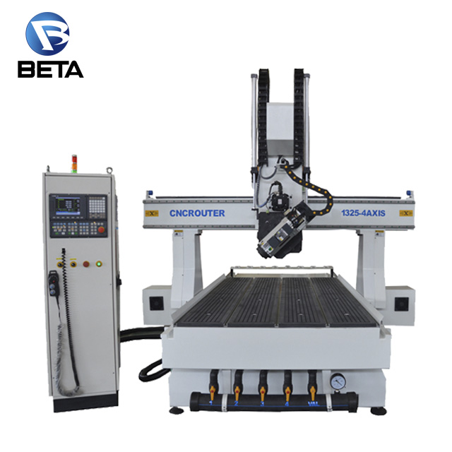 Most popular !! 4 axis 1325 cnc router milling and drilling machine for wood granite engraving