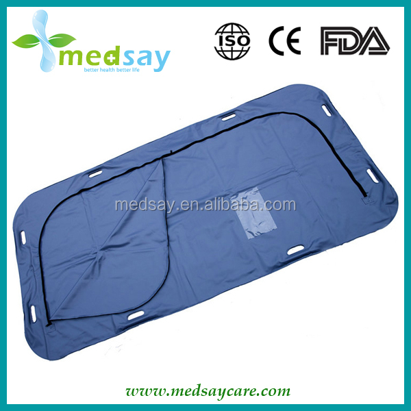 U zipper with hand holes Biodegradable body bag
