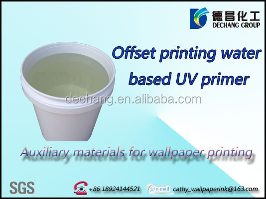 Water based varnish UV primer for offset printing