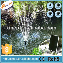 solar fountain with battery backup and adjustable flow pump (P003E)