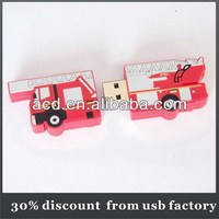 30% discount of fire fighting truck usb flash drive