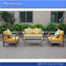 AS-3791 set modern outdoor 4PC sofa set with stainless steel like frame