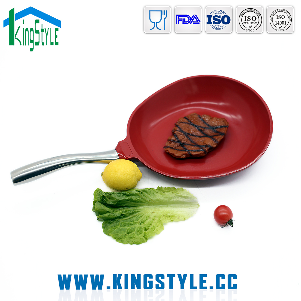 OEM factory non-stick coated oval shaped grill pan die casting aluminum frying pan
