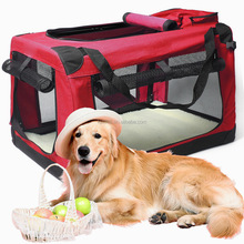 Pet Soft Dog Cat Cage foldable pet soft carrier RDE