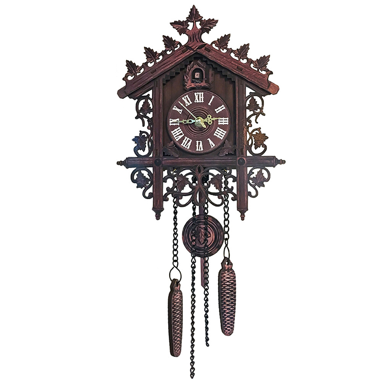 Pendulum Cuckoo Wall Clock Wooden Vintage Antique Clock