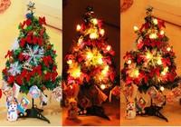 2015 christmas gift christmas tree decoration,60cm small christmas tree with light