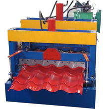 Standing seam roofing panel metal galvanized sheet steel glazed tile roll forming machine