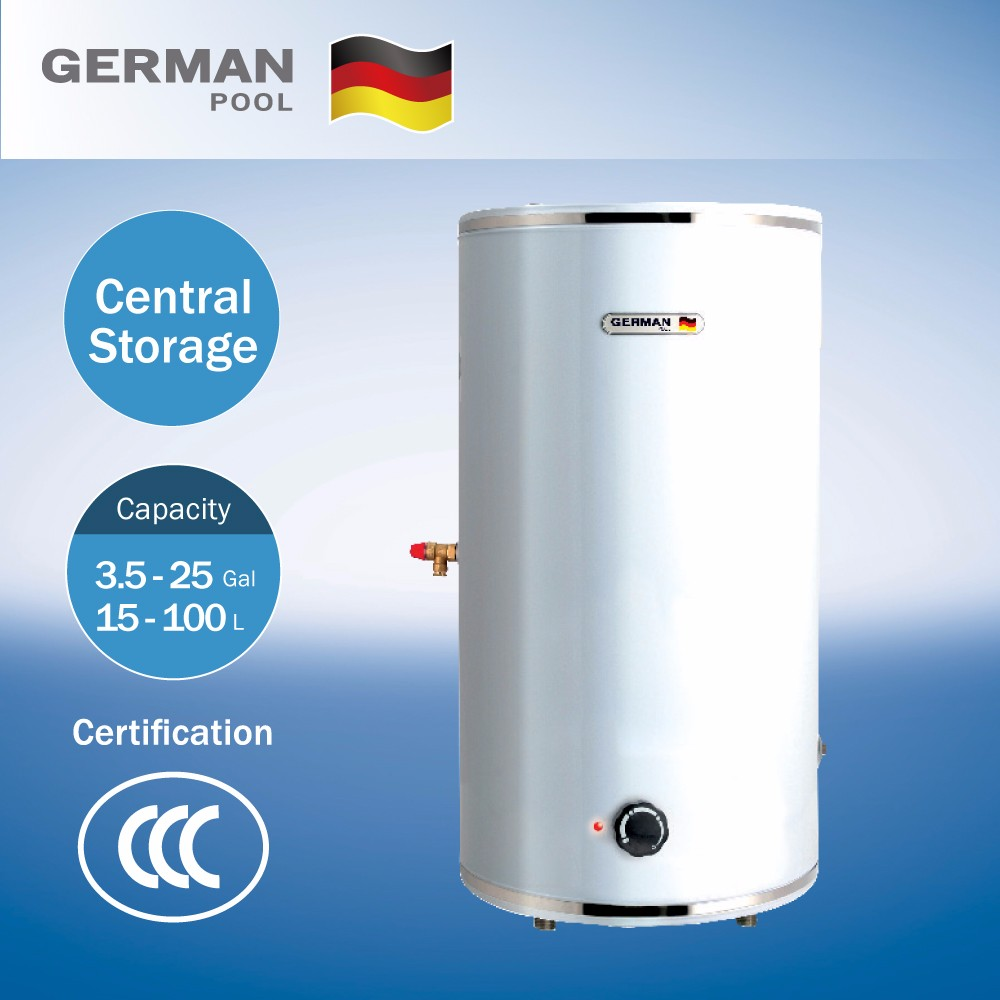 German Pool Manufacturer With Ce Approve Commercial High Efficiency Stainless Steel Storage Electric Water Heater
