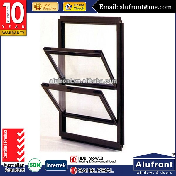 pvc double hung window profile scrap with chain winder comply with AS2047 standard