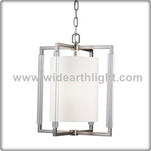 UL CUL Listed brushed Nickel Hanging Lamp Fixture For Restaurant Or Room Hotel Glass Pendant Light C81376