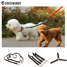 Two dogs walking lead twins & couple dog leash factory custom coco buddy