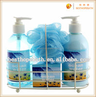 Nice Iron Shelf Bath Set, Wholesale Bath and Body Sets, Ocean Bath Sets