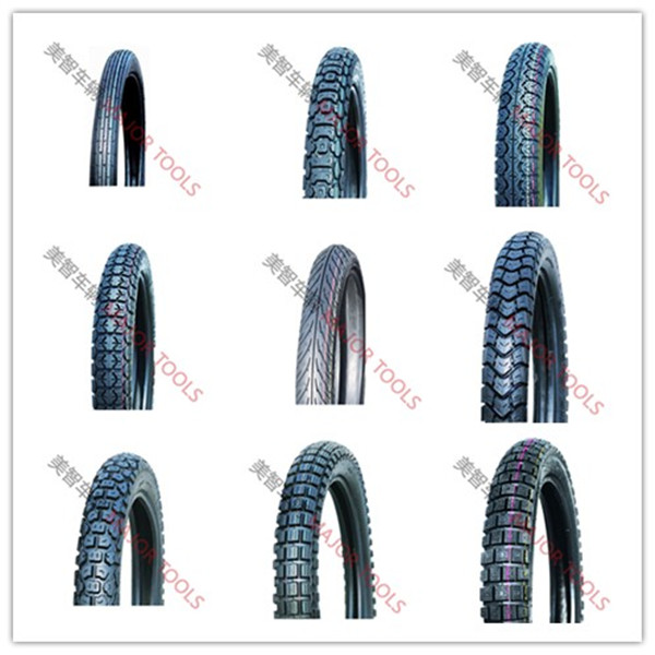 Full size range of motorcycle tyre and inner tube