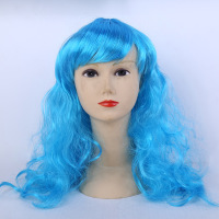 Can Be Brushed Through Washed Reset Changed Synthetic Stretch Wig With Adjustment Straps In The Nape
