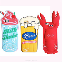 OEM High Quality 3D Cartoon Beer Cray Milk Shake Rubber Cell Phone Cases