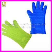 5 fingers silicone heat resistant gloves silicone oven glove silicone rubber gloves as seen on TV Amazon best selling