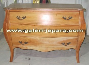 Wood Furniture - Classic Chest Interior Home - Natural Paint Furnishing