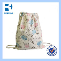 wholesale cotton fabric sling bag draw string bag
