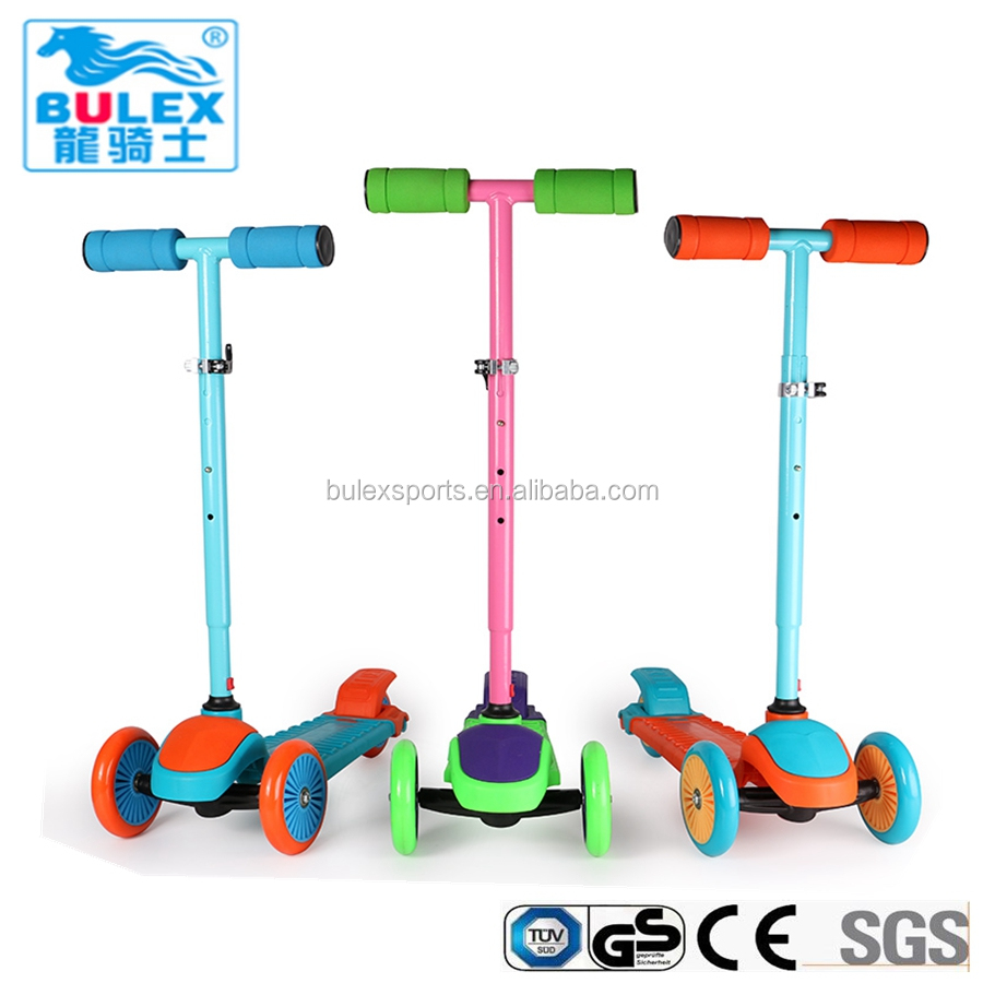 CE approved safe push trike scooter for big kids
