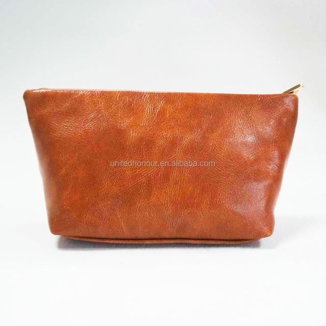 2016 free sample PU leather bags toiletry travel cosmetic bag makeup bag