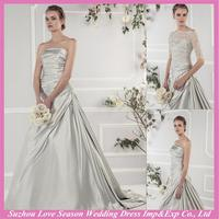 WD9246 famous silver grey wedding dresses shipping by express