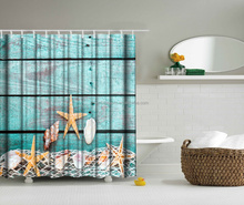 New pattern digital print double swag shower curtain with valance