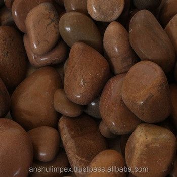 High Polished Natural Brown River Pebble Stones