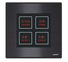 Aluminium alloy touch switch crystal glass panel