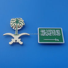 Custom Flag Shape Saudi Arabia Pin Badge with Magnet