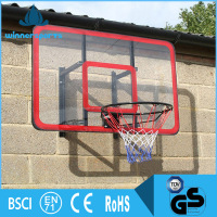 Durable Hanging Fiberglass Fiber Glass Basketball Backboard With Ring