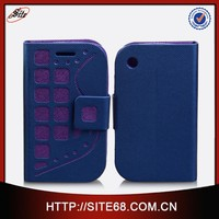 Factory in Guangzhou Leather TPU Cell Phone Case for Blackberry 8520
