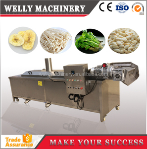 Fruits and vegetables blanching machine 2.5m-6m length blancher machine